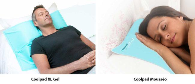 oreillers rafraichissants coolpad mousseo et coolpad xl gel pour mieux dormir