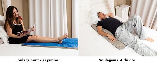 soulagement des jambes et du dos avec le Climsom intense
