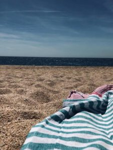 Sensation de brulure sur le sable chaud