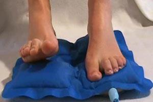 Coussin pour les pieds sans latex
